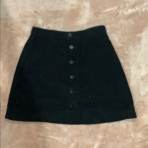 American Apparel Skirts - Black mini button front skirt